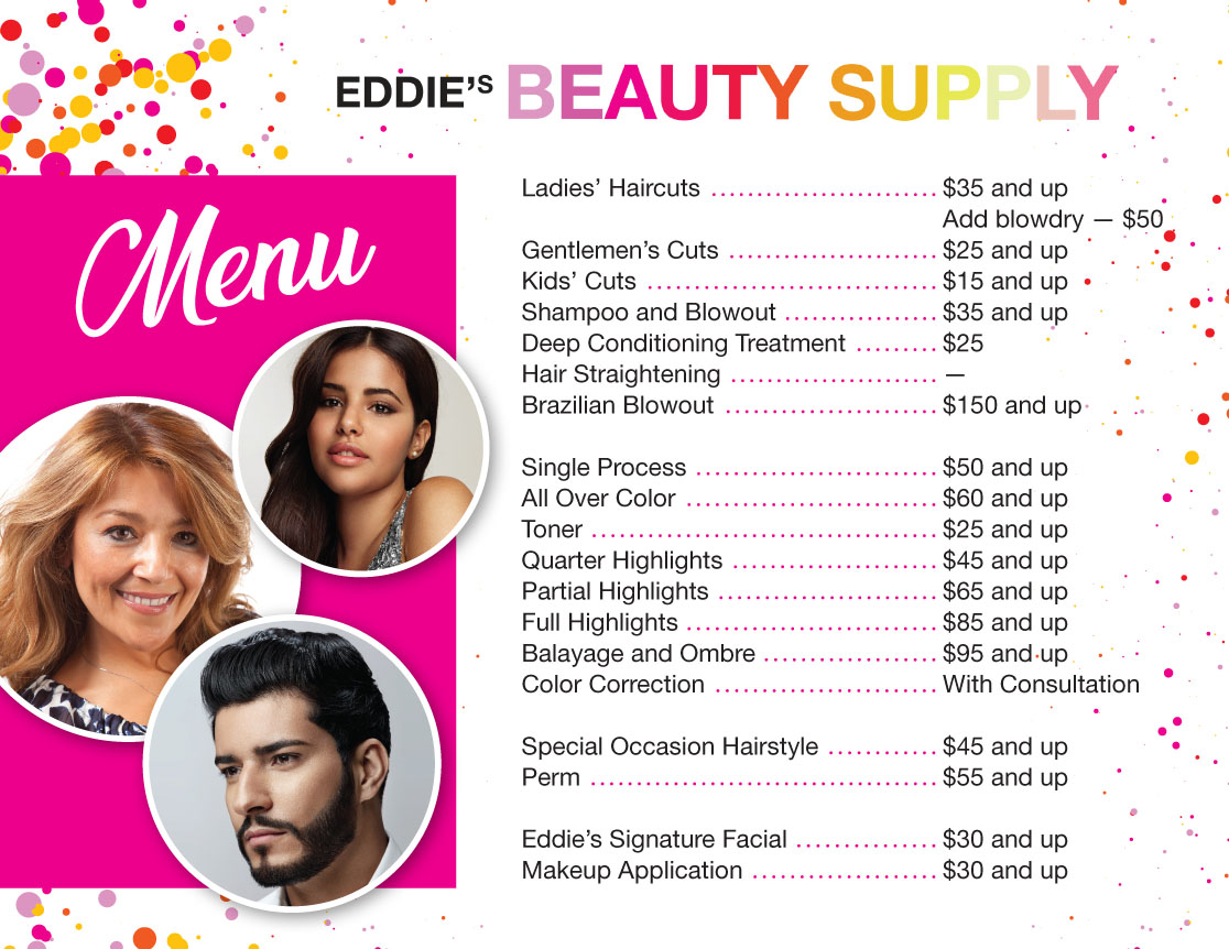 Eddies Studio menu-EN