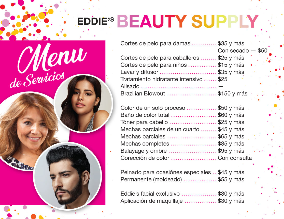 Eddies Studio menu-ES